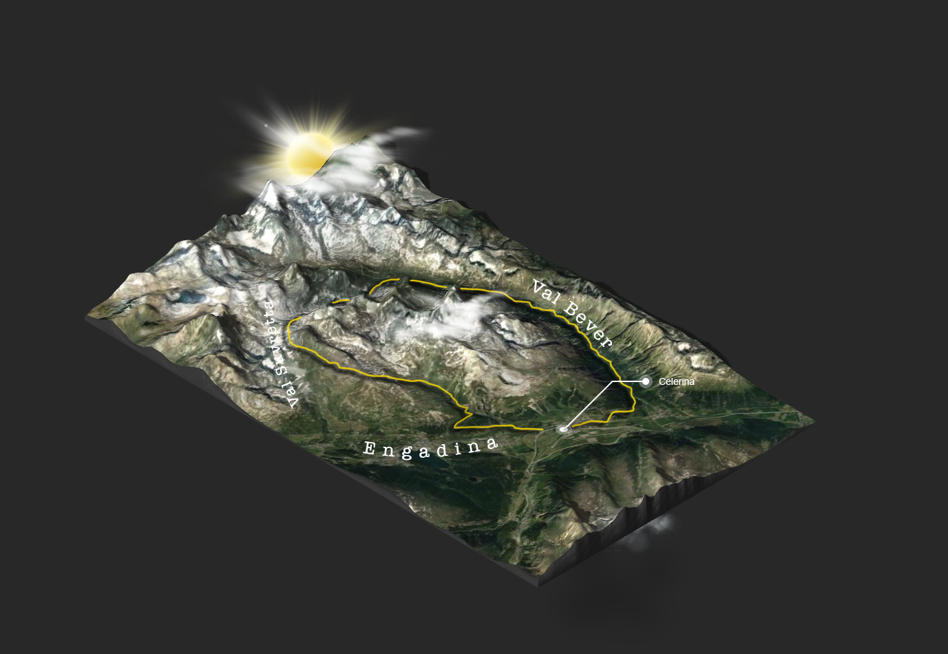 3d map Suvretta Loop mtb