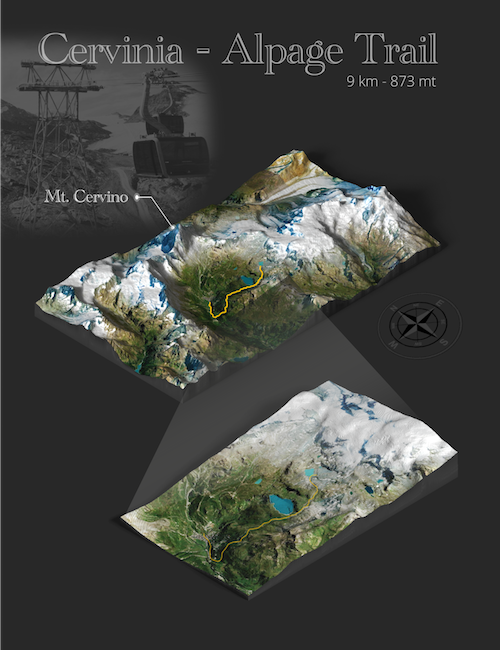 alpage trail full 3D map cervinia